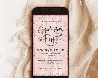 Digital Graduation Party Invitation Template, Electronic Invite, Graduation Announcement, Modern Graduation Party Evite Graduation Evite GRA