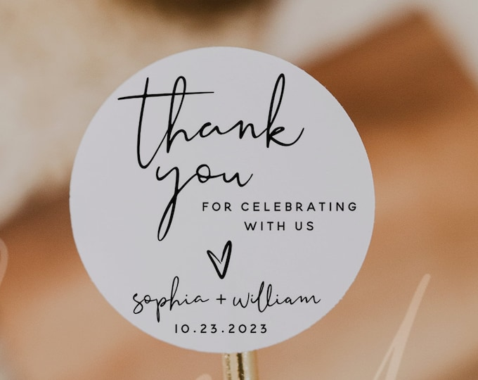 Wedding Thank You Favor Tags Template, Round Thank You Favor Tag, Printable Thank You Tag, Wedding Favor Tag, Instant Download, Templett, M8