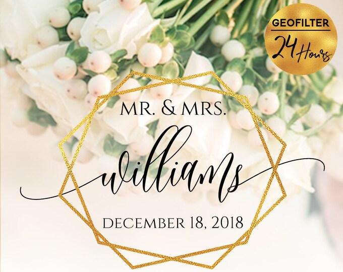 Geometric Gold Wedding Snapchat Filter Wedding Snapchat Geofilter Wedding Snapchat Wedding Geofilter Wedding Filter Snap Chat PNG Glitter