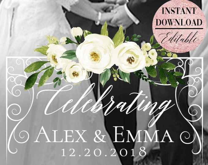 White Floral Wedding Snapchat Filter Wedding Snapchat Geofilter Wedding Snapchat Wedding Geofilter Wedding Filter Snap Chat PNG Green Filter