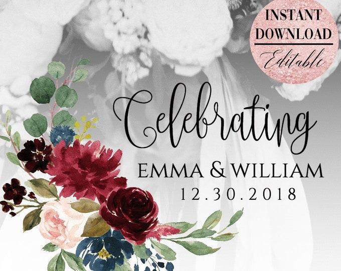 Marsala Burgundy Navy Wedding Snapchat Filter Wedding Snapchat Geofilter Wedding Snapchat Wedding Geofilter Wedding Filter Red Floral Filter