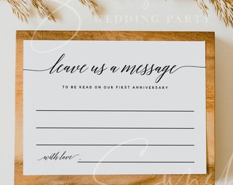 Wedding Advice Card Template, Printable Anniversary Advice for the Bride & Groom, Bridal Shower Advice Editable Instant Download Templett R2