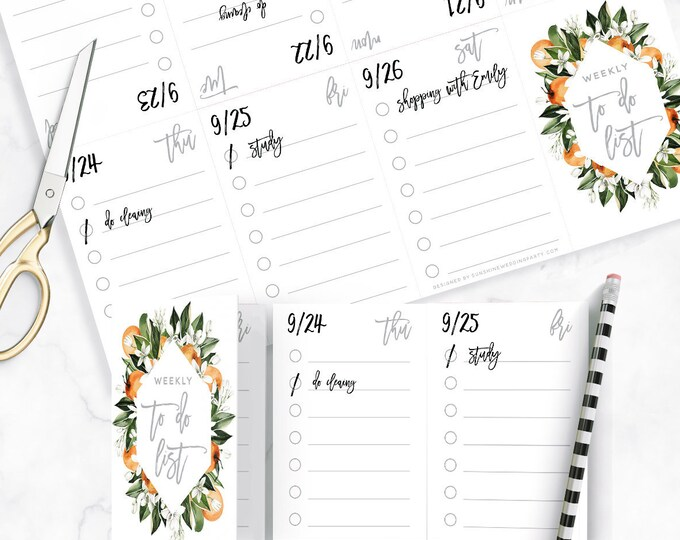 Weekly To-do Planner, Weekly Schedule, Printable Planner, Weekly Organizer, School Planner, To-Do List, Planner Printable, Digital Printable
