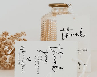 Wedding Thank You Favor Tags Template, Thank You Favor Tags, Printable Thank You Tags, Wedding Favor Tags, Instant Download, Templett, M8