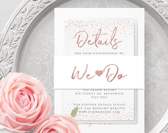 Wedding Belly Band Template Printable Wedding Belly Band Editable Wedding Belly Band Template Wedding Bellyband Instant Download Templett M1