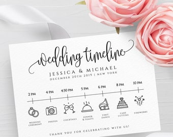 Wedding Timeline Etsy