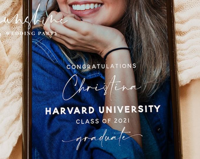 Graduation Filter Snapchat, Graduation Geofilter, Snap Chat Graduation Filter, Minimalist Snapchat Filter, Modern Snapchat PNG Filter, GRA