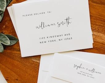 Wedding Envelope Template, DIY Wedding A7 A6 A1 Envelope, Printable Envelope, DIY Editable Envelope Template, Instant Download, Templett, M8