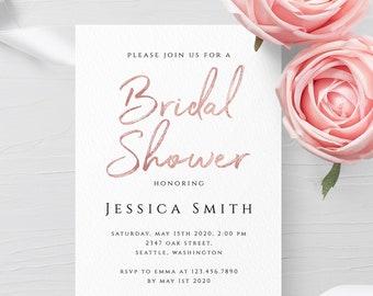 Bridal Shower Invitation Template Wedding Printable Invitation Template Editable Bridal Shower Invite Template Instant Download Templett M1