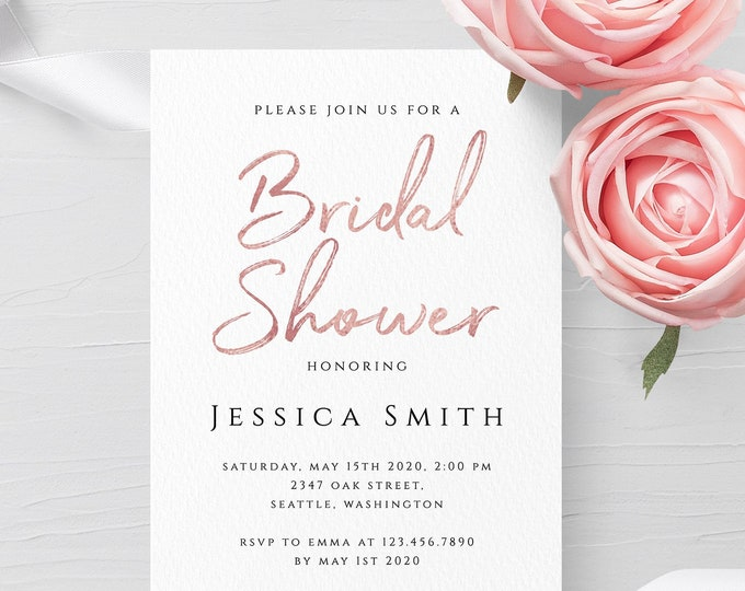 Bridal Shower Invitation Template Wedding Printable Invitation Template Editable Bridal Shower Invite Template Instant Download Templett M1