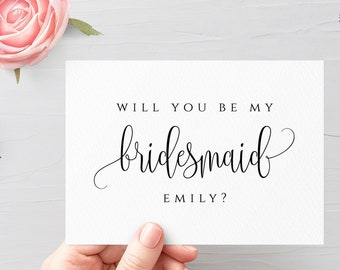 Will you be my bridesmaid Template Personalized Wedding Bridesmaid Template Printable Fully Editable Wedding Bridesmaid Template Templett R1
