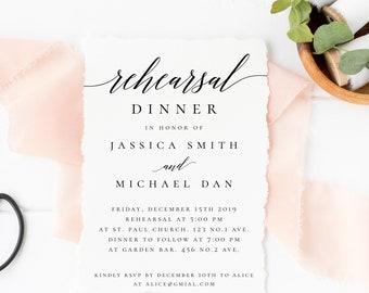 Rehearsal Dinner Invitation Template Printable Wedding Rehearsal Invite INSTANT DOWNLOAD 100% Editable Text Rehearsal Invitation Templett R2
