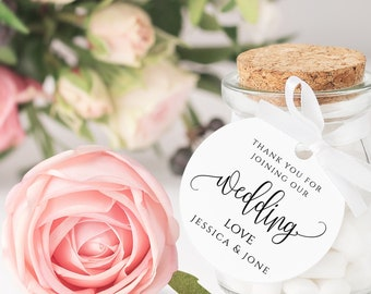 Thank You Tag Favor Tag Printable Wedding Thank You Tag Round Favor Tag Editable Round Thank You Tag Shower Party Tag Gift Tags Round Tag R1