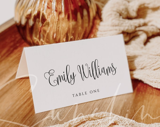 Wedding Place Cards Seating Card Wedding Guest Names Table Cards Printable Fully Editable Instant Download Wedding Seating Card Template R1