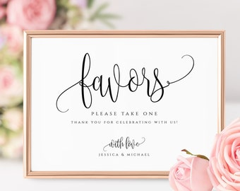 Wedding Favors Sign Template Please Take a Treat Guests Favors Sign Wedding Signs Favors Printable Wedding Favors Sign Template Templett R1
