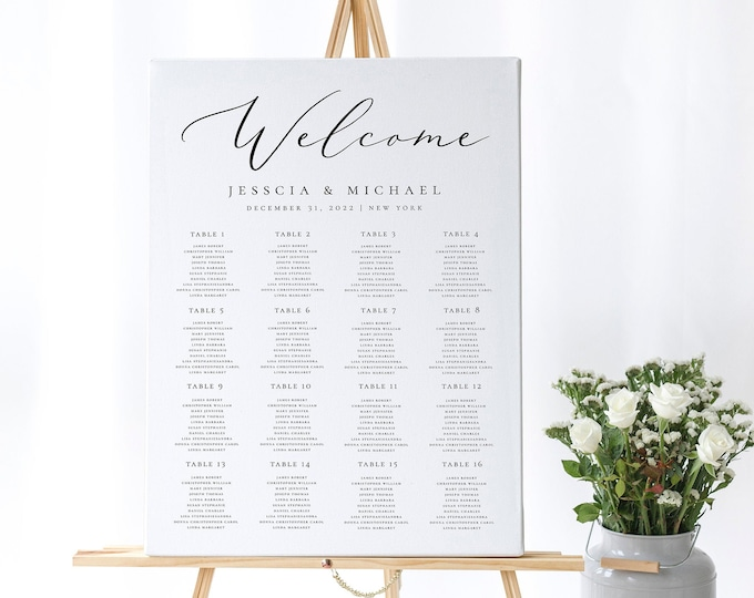 Wedding Seating Chart Template Printable Table Seating Plan Editable Template Wedding Seating Chart Template Instant Download Templett R3