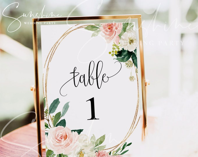 Table Card Template Wedding Table Number Printable Wedding Table Card Boho Floral 100% Editable INSTANT DOWNLOAD Flat Table Card Templett F5