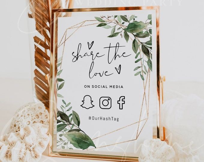 Greenery Oh Snap Sign, Snapchat Sign Template, Printable Snapchat Sign, Editable Text, Wedding Sign, Social Media Sign, Instant Download, G5