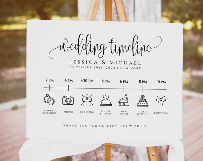 Wedding Itinerary Template Wedding Timeline Template Wedding Timeline Program Wedding Timeline Sign Wedding Itinerary Wedding Templett R1