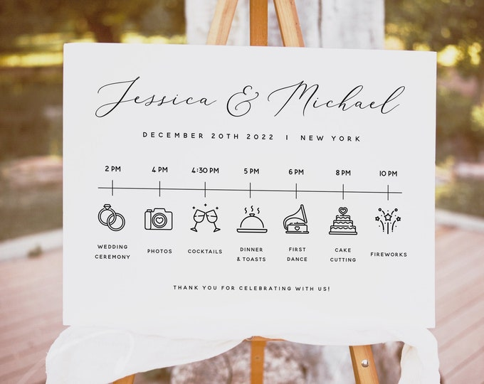 Wedding Itinerary Template Wedding Timeline Template Wedding Timeline Program Wedding Timeline Sign Wedding Itinerary Wedding Templett R3
