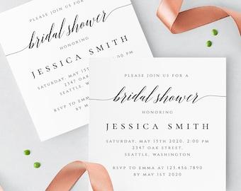 Rustic Bridal Shower Invitation Template Wedding Printable Invitation Editable Bridal Shower Invite Templates Instant Download Templett R2