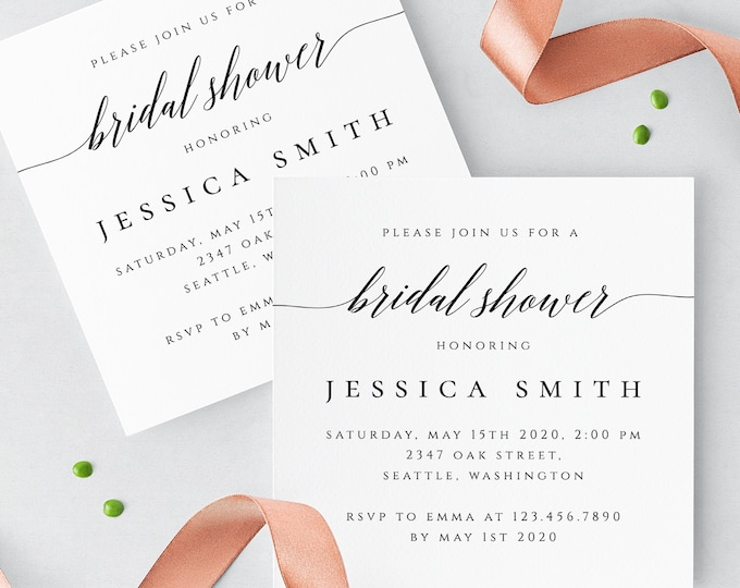 Rustic Bridal Shower Invitation Template Wedding Printable Invitation Editable Bridal Shower Invite Templates Instant Download Templett R2