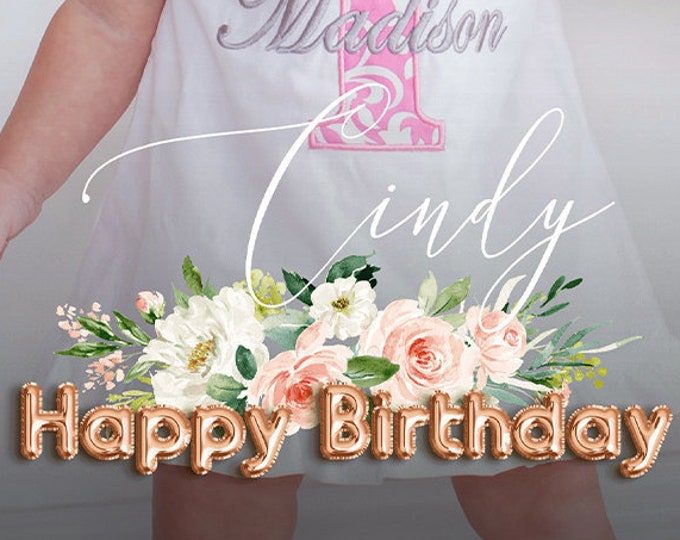 Birthday Snapchat Filter Happy Birthday Snap Chat Filter Foil Balloon Birthday Geofilter Birthday Floral Filters Instant Download Templett