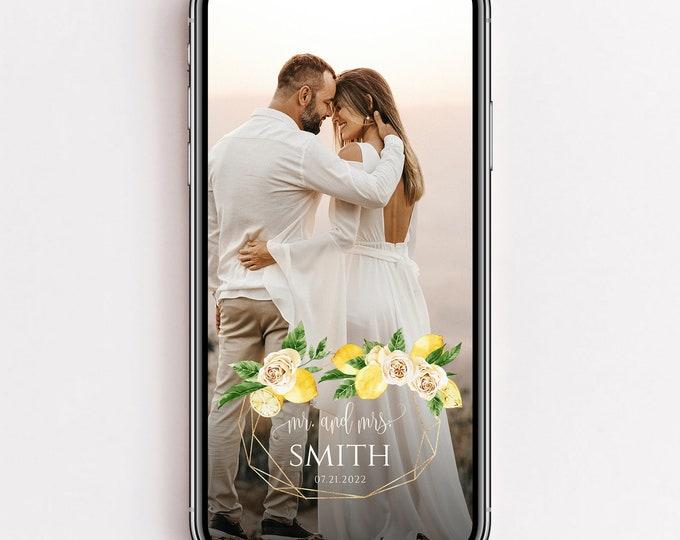 Wedding Snapchat Filter, Lemon Wedding Filter, Wedding Filter Snapchat, Wedding Snapchat Geofilter Wedding Snap Chat PNG Glitter Filter, L1