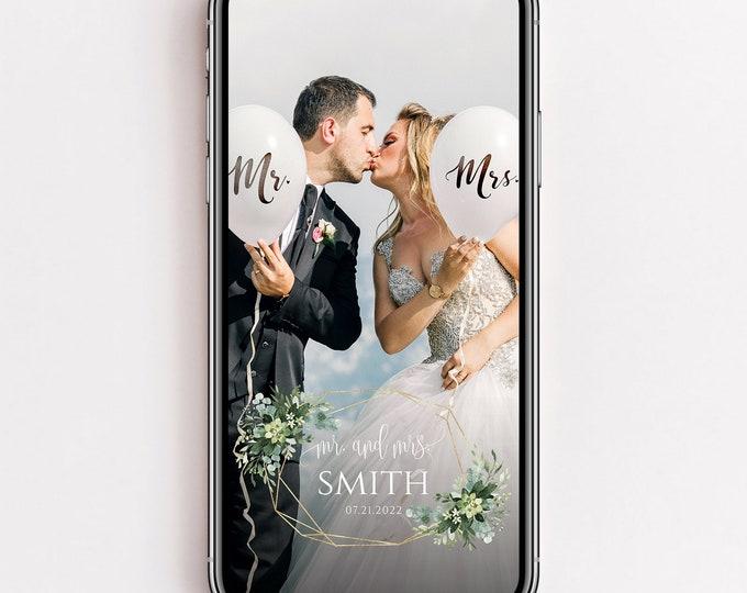 Wedding Snapchat Filter, Greenery Wedding Filter, Eucalyptus Greenery, Wedding Snapchat Geofilter, Wedding Snap Chat PNG, Glitter Filter, G3
