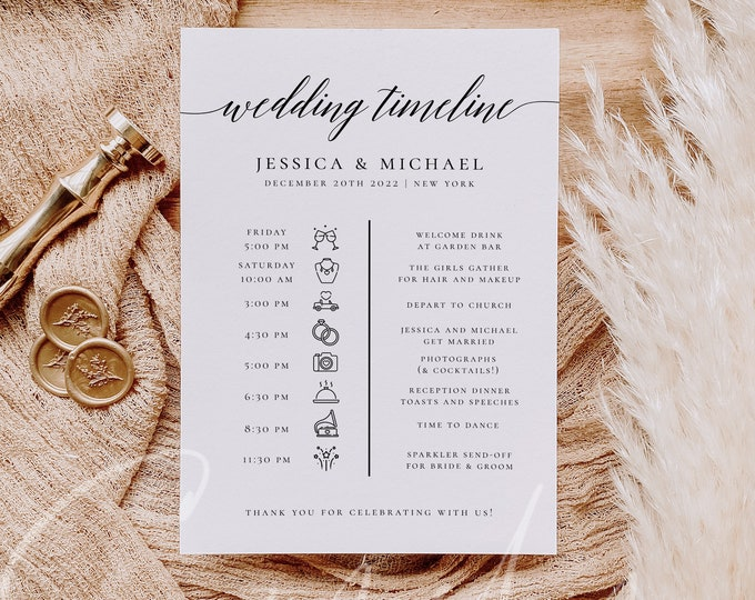 Wedding Itinerary Template Wedding Timeline Template Wedding Timeline Program Wedding Timeline Sign Wedding Itinerary Wedding Templett R2