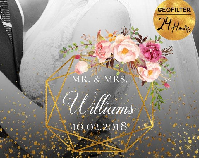 Geometric Gold Floral Wedding Snapchat Filter Floral Wedding Snapchat Geofilter Geometric Wedding Snapchat Wedding Geofilter Wedding Filter