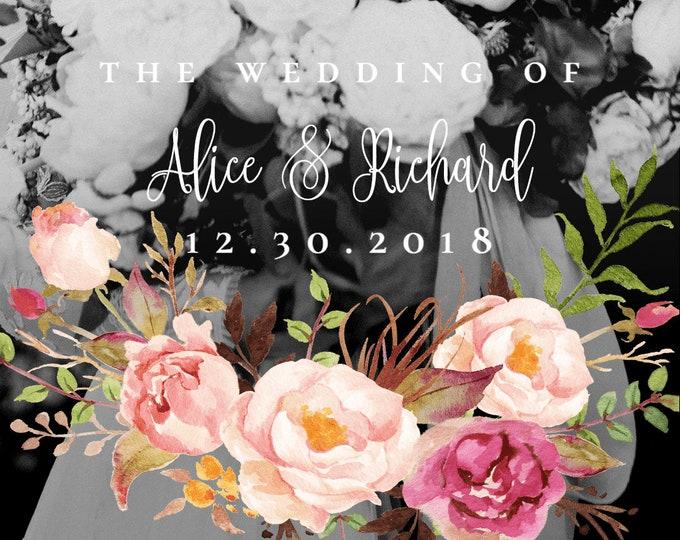 Wedding Snapchat Filter Pink Floral Wedding Snapchat Geofilter Wedding Snapchat Wedding Geofilter Wedding Filter Wedding Snap Chat Filter