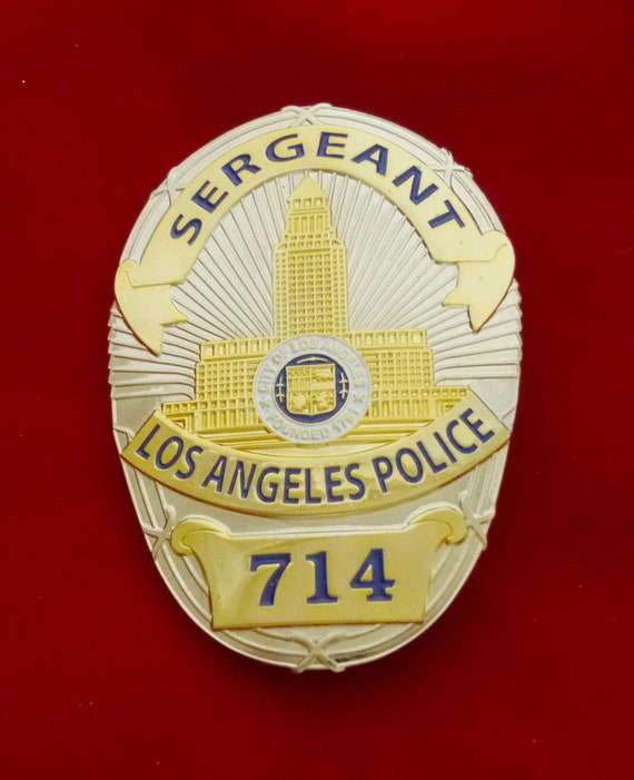 Chicago Police Department Sergeant Badge all Metal Sign with your Badge Number