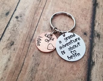 Hand Stamped Grand Adventure Graduation Penny Gift