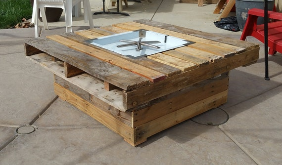 Rustic Pallet Wood Fire Pit Local Pickup Only