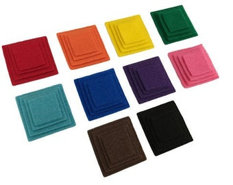 Color Matching and Size Sorting Activity, Felt Board Shape Sorting for Toddlers and Preschool, Montessori Learning Material, Sensory Play