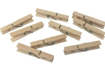 Large Wooden Clothespins, Stain-Proof Hardwood Pins, STEM Basics, Art and Craft Supplies, Teacher Resources, Homeschool Material