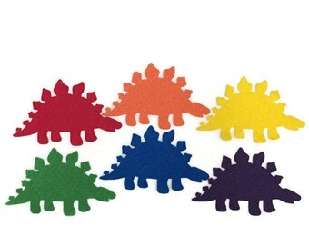 Felt Dinosaur Shapes, DIY Rainbow Dinosaur Craft, Party Decoration Supply, Toddler Dinosaur Toy, Felt Board Dinosaurs, Dinosaur Birthday