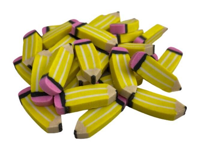 Pack of 30 Mini Pencil Erasers for Kids, Classroom Mini Erasers, Back to School Erasers, Kids' Pencil Erasers, Teacher Gift, School Supplies