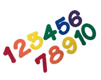 Felt Numbers Set, 1 - 10, 2 inch, Multicolor, Numbers for Felt Board, Art & Craft Activities for Kids, Toddler Game, Preschool Math Material