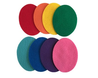 Pack of 8 Felt Easter Eggs, Multicolor, 4 inches, Great for Felt Board Activities, Crafts for Kids, Spring Bulletin Board Decorations