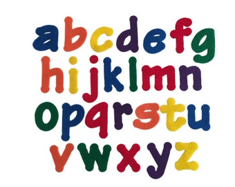 Lowercase Alphabet Letters, Rainbow Felt Letters, 1.5-2 inches, Letters for Felt Board, Preschool ABC Letters, Alphabet Crafts, Learning Toy