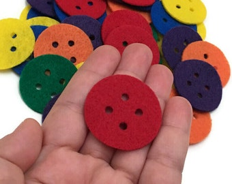 Felt Buttons, 1.5 inch, Buttons for Crafts Projects, Please choose the Colors and Quantities that you Need