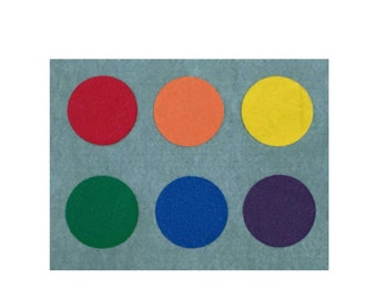 Felt Color Sorting Mat, Toddler Learning Color Toy, Montessori Material for Homeschool, Special Education, Occupational Speech Therapy