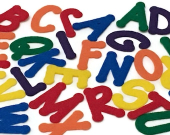Felt Letters, Multicolor, 2 inch, Price is for Each Letter, Sold Individually, Choose the Letters, Colors and Quantities that you Need
