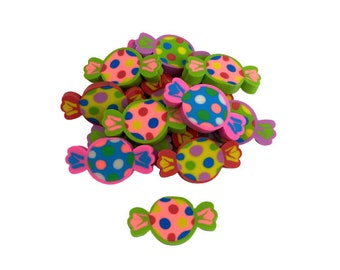 Pack of 20 Mini Sweets Erasers for Kids, Summer Treats Erasers for Classroom Treasure Chest, Rewards Bin, Goodie Bag Fillers, School Crafts