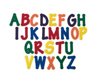 Felt Alphabet Letters, Set of 26 Capital Letters, A to Z , 2 inch, Letters for Felt Board, Preschool Letter Games, Early Learning Resources