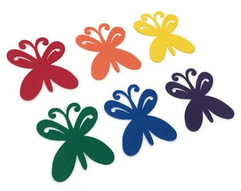 Pack of 6 Felt Butterflies, Spring Crafts for Kids, Classroom and Bulletin Board Decorations, Spring Cut Outs, Butterfly Party Decor
