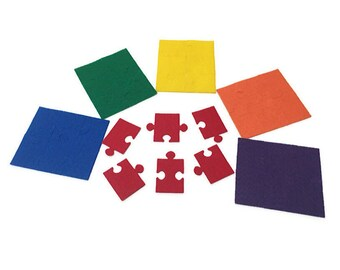 Pack of 6 Felt Puzzle Games for Kids, Multicolor, Felt Board Activity for Color Sorting and Fine Motor Skills for Toddlers and Preschoolers