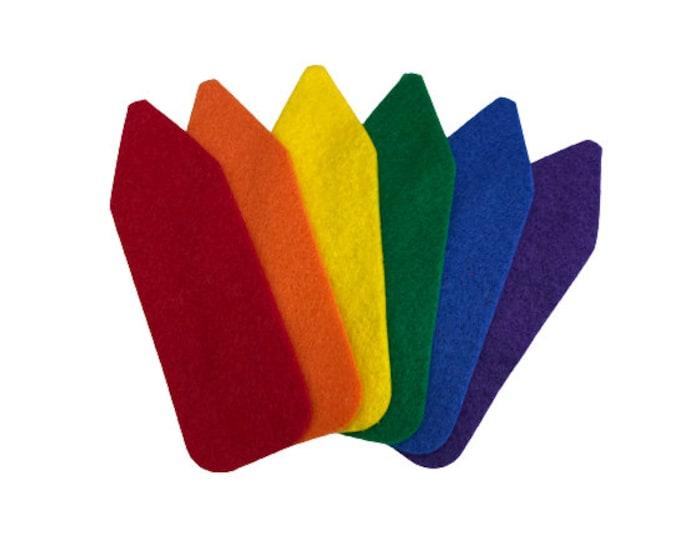 Felt Crayon Shapes for Flannel Felt Board, School Crayons for Classroom Decorations, Back to School Crafts, Teacher Bulletin Board Decor